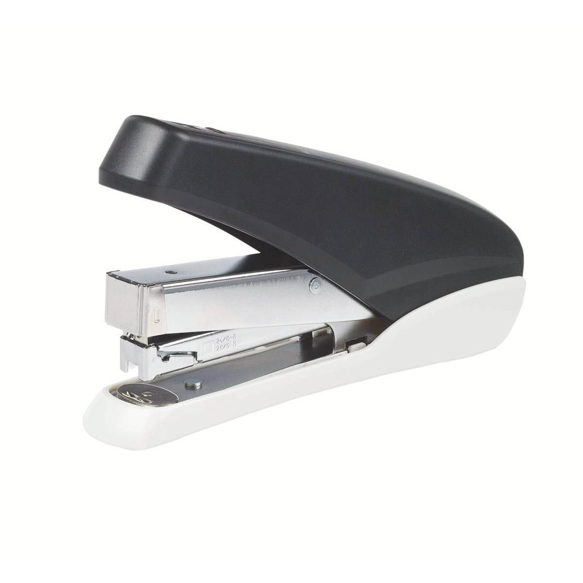 Desktop Staplers 5 Star Office Power-Save Full Strip Stapler 40 Sheet Capacity Takes 26/6 Staples Black/Grey