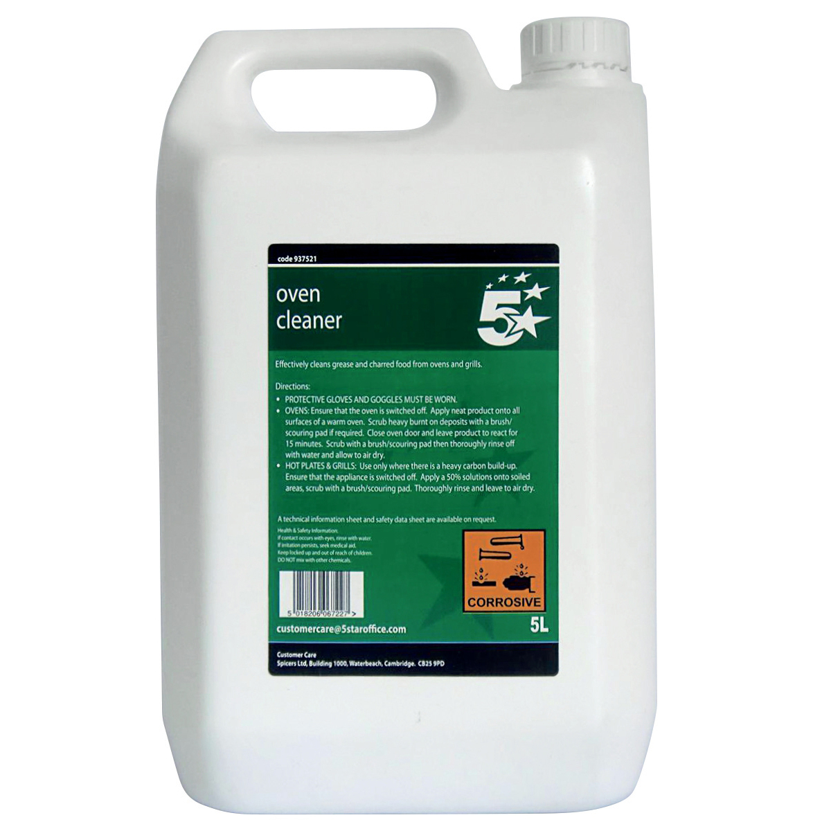 Image for 5 Star Facilities Heavy-duty Oven Cleaner 5 Litres
