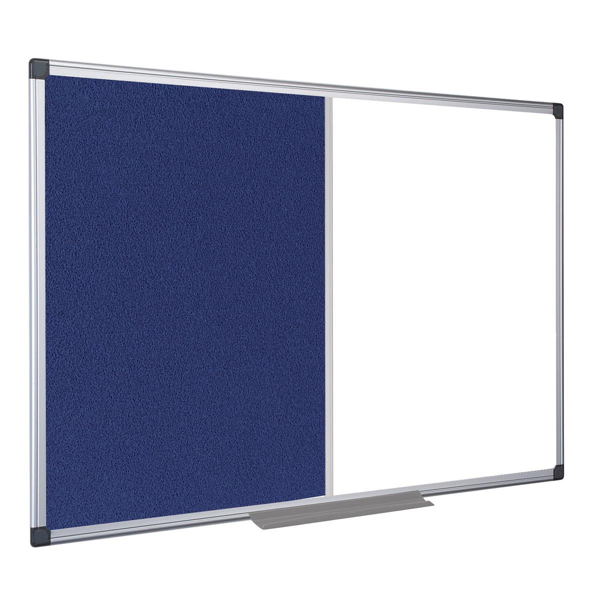 Foamboard 5 Star Office Combination Notice Board Felt and Drywipe W900xH600mm