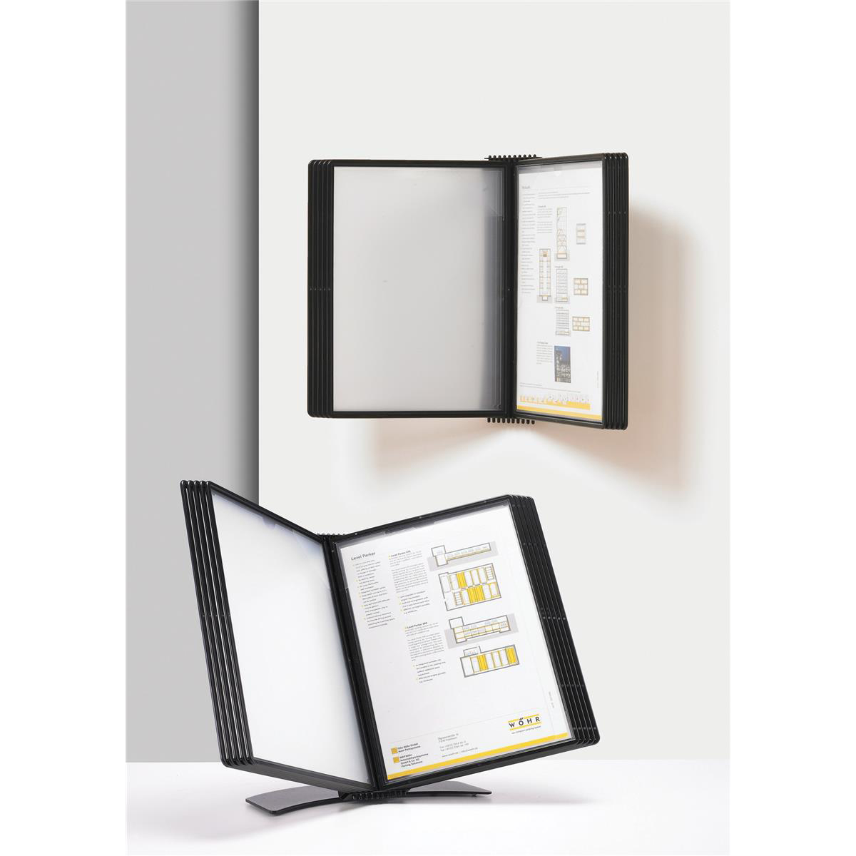 5 Star Office Wall Display Panel System Easy Mount 10 Pockets A4
