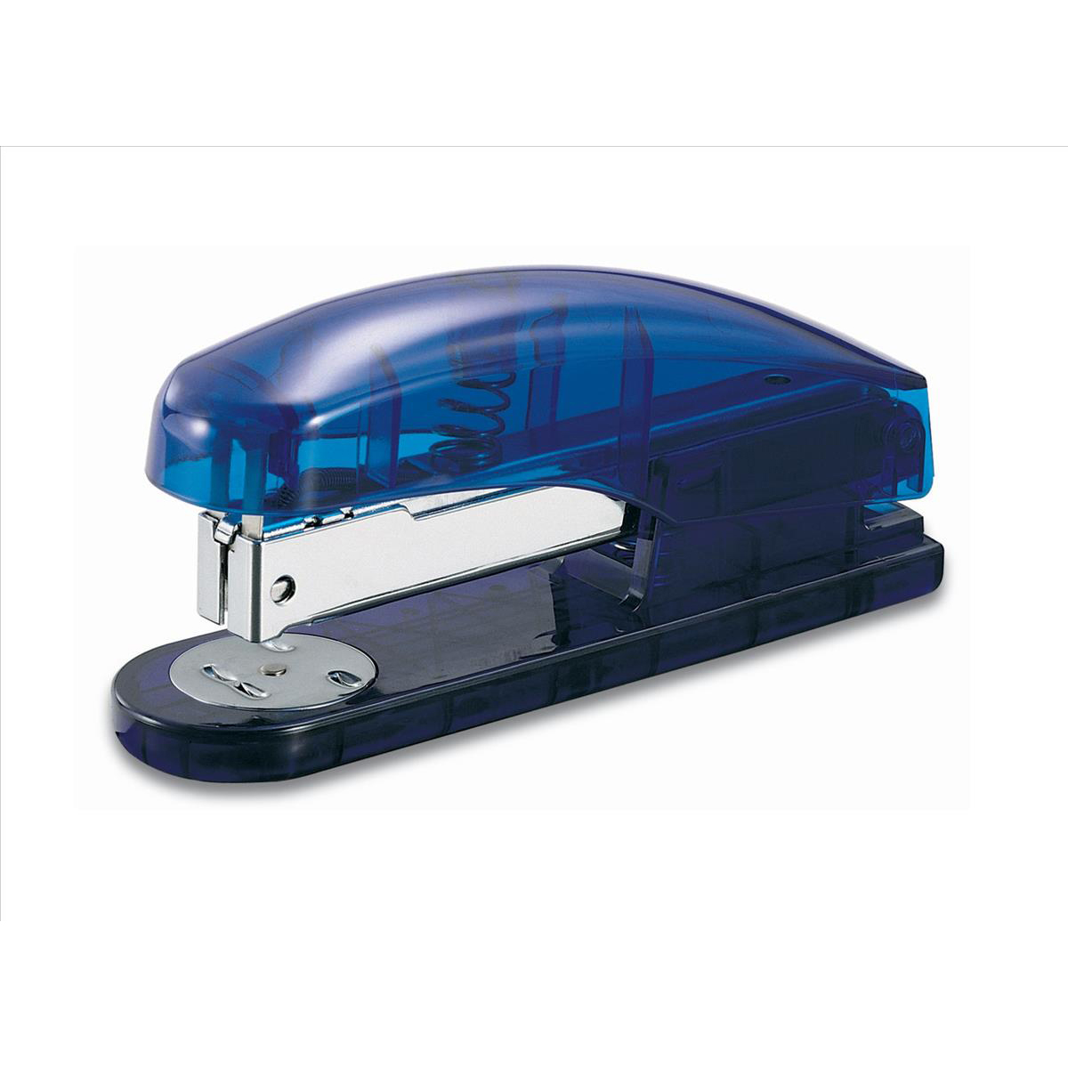 Desktop Staplers 5 Star Office Half Strip Stapler 20 Sheets Blue Transparent