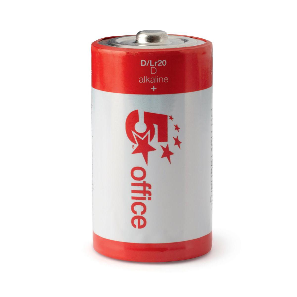 5 Star Office Batteries D/LR20 [Pack 12]
