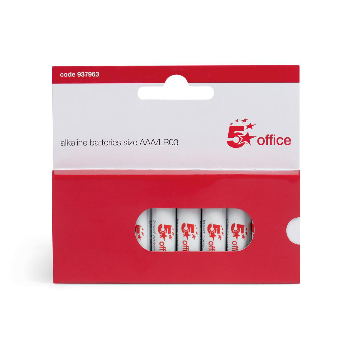 5 Star Office Batteries AAA Pack 10