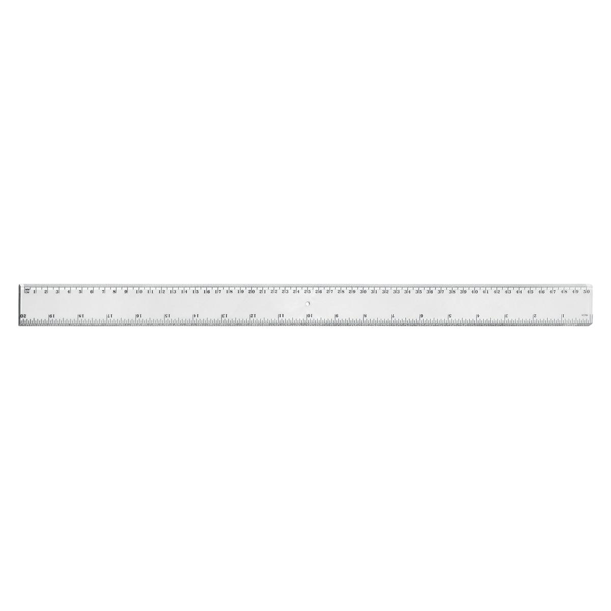 Image for 5 Star Office Ruler Plastic Metric and Imperial Markings 450mm Clear [Pack 24]