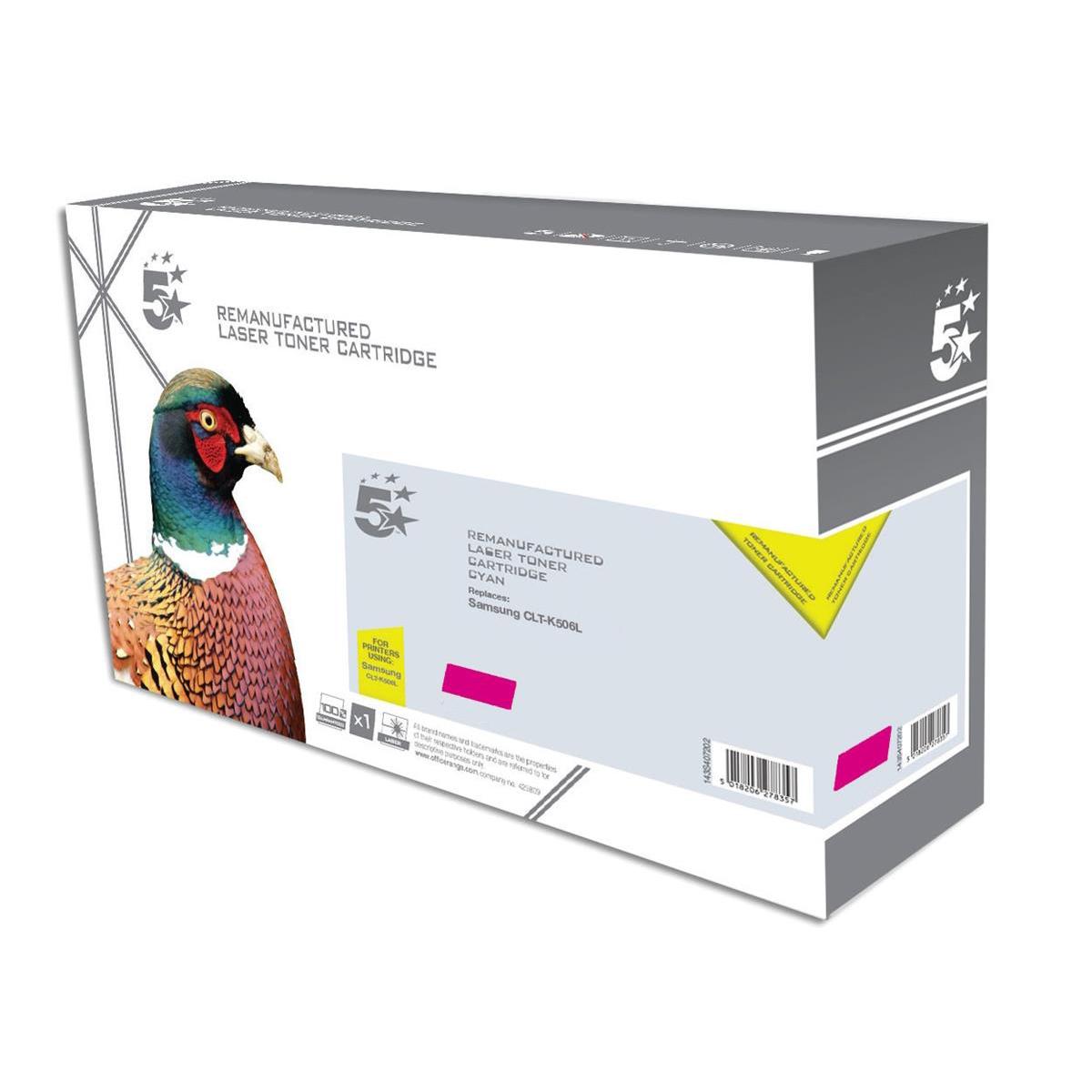 Image for 5 Star Office Reman Laser Toner Cart High Yield 3500pp Magenta [Samsung CLT-M506L SU309A Alternative]