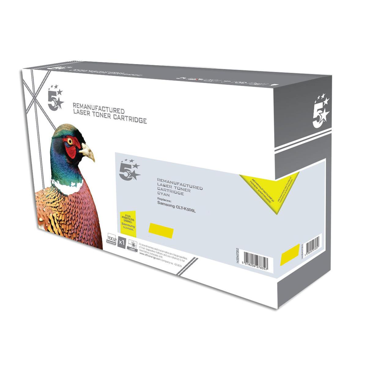 Image for 5 Star Office Reman Laser Toner Cart HY Page Life 3500pp Yellow [Samsung CLT-Y506L SU524A Alternative]