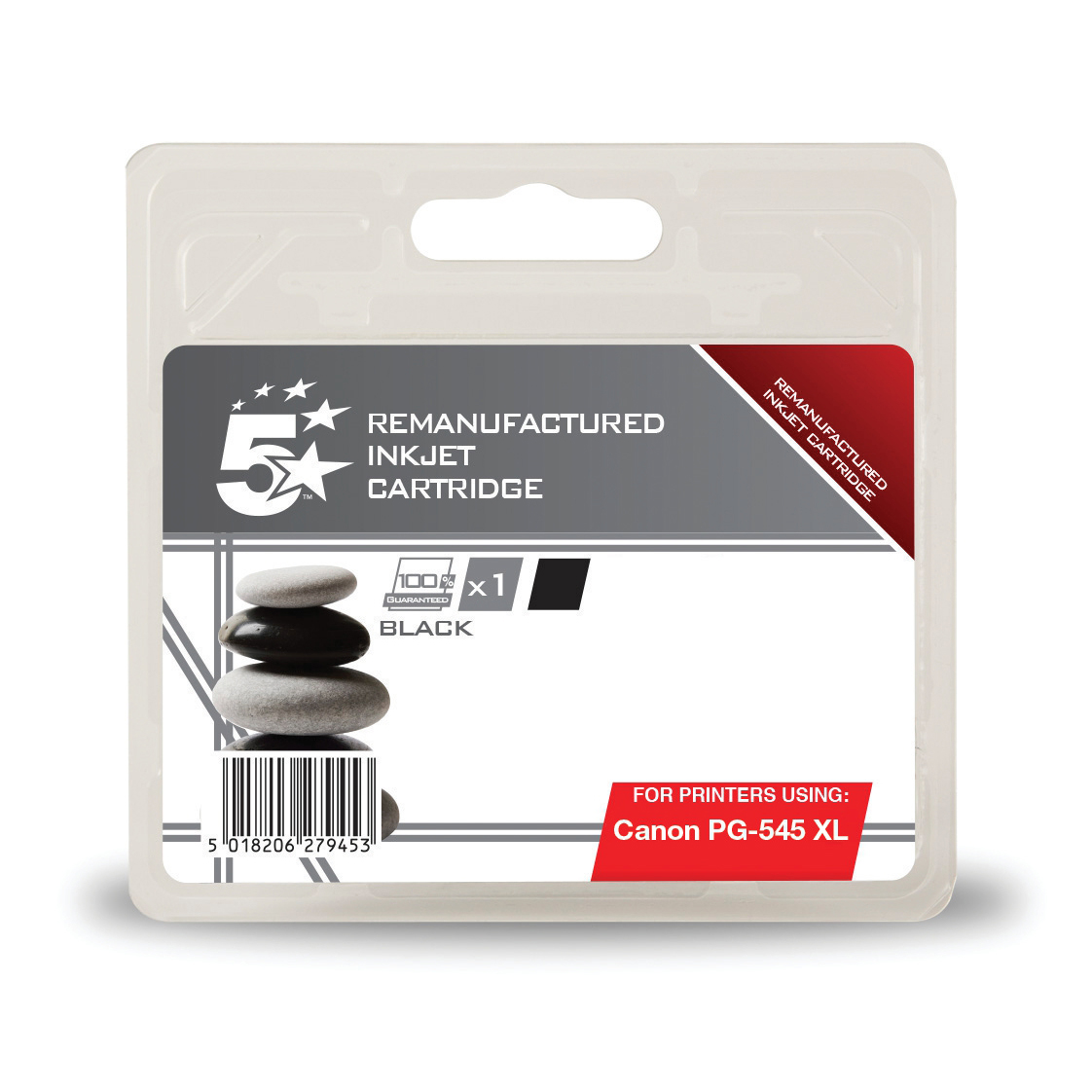 Printheads 5 Star Office Remanufactured Inkjet Cartridge Page Life 400pp 15ml Canon PG-545XL Alternative Black