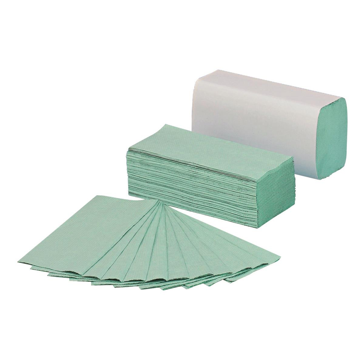 5 Star Facilities Hand Towels 1 Ply Z-fold 250 Towels per Sleeve Green Pack 12 Sleeves