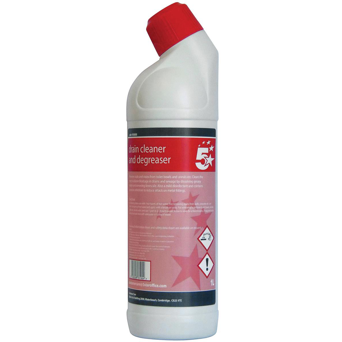 Cleaning Chemicals 5 Star Facilities Drain Cleaner & Degreaser 1 Litre