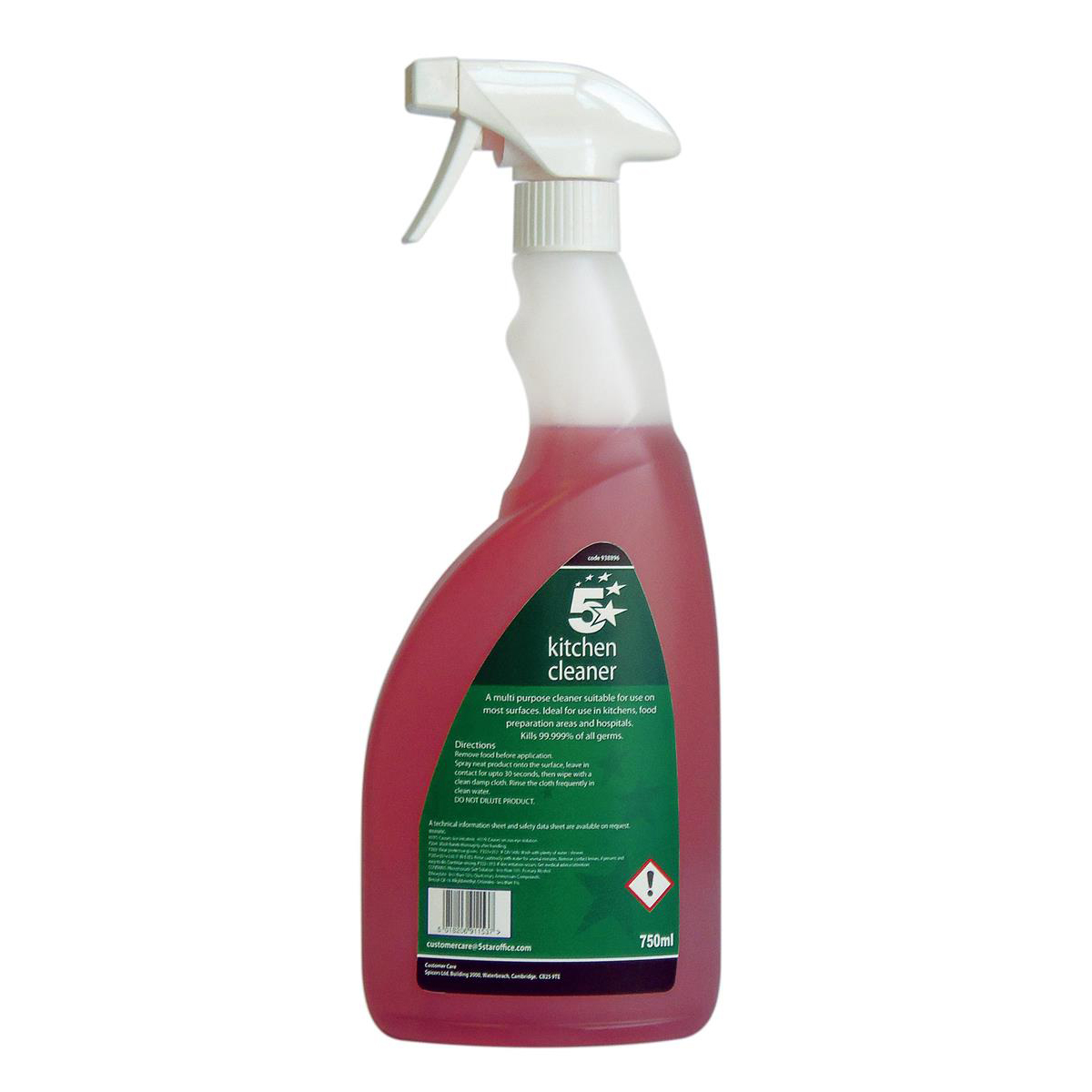 Cleaning Chemicals 5 Star Facilities Kitchen Cleaner 750ml