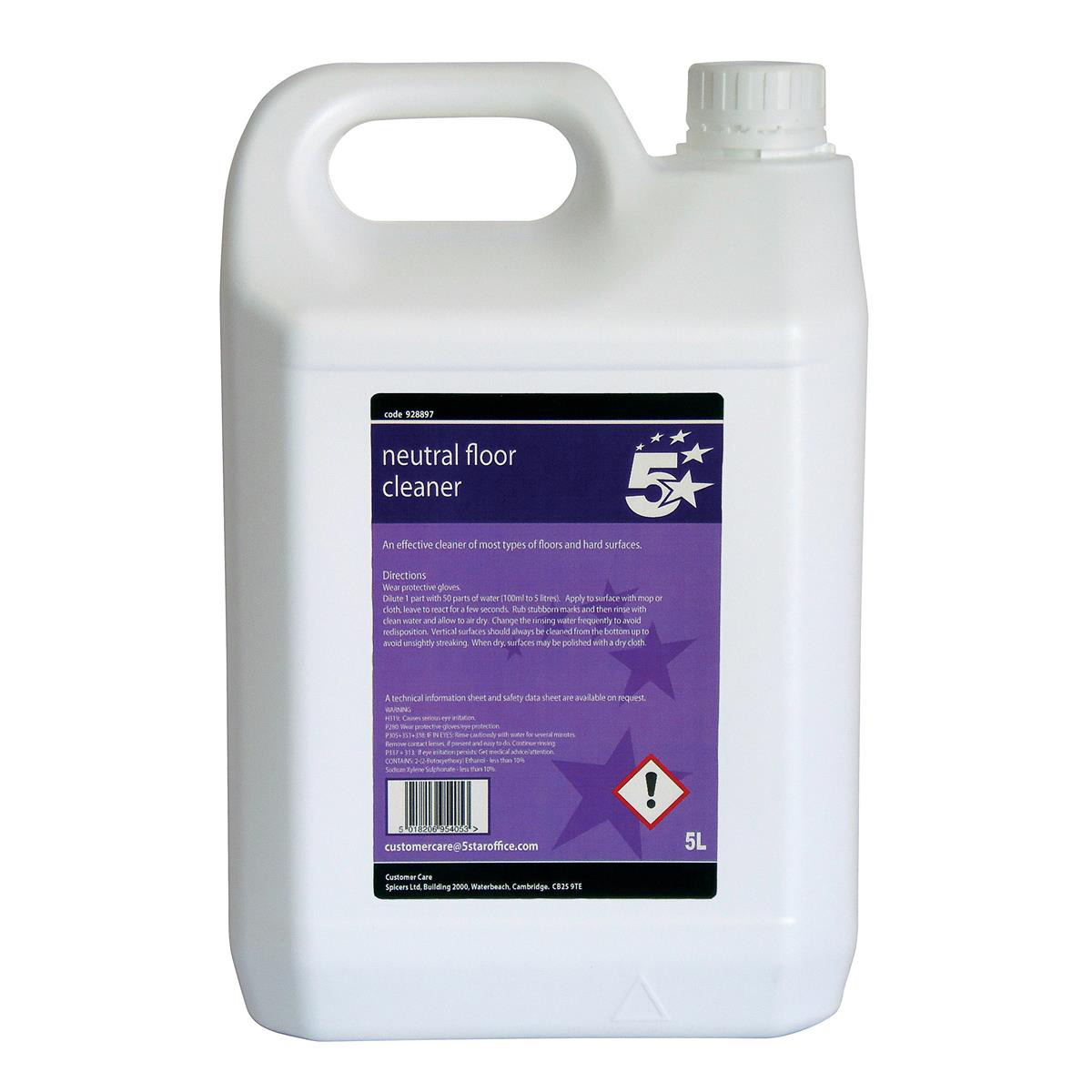 Cleaning Chemicals 5 Star Facilities Neutral Floor Cleaner 5 Litres