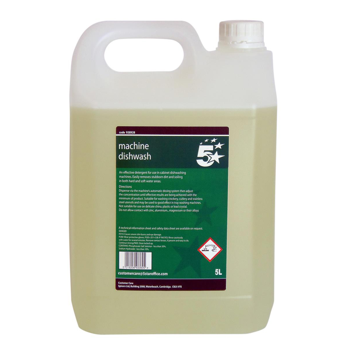 Cleaning Chemicals 5 Star Facilities Machine Dishwash Liquid Detergent 5 Litres