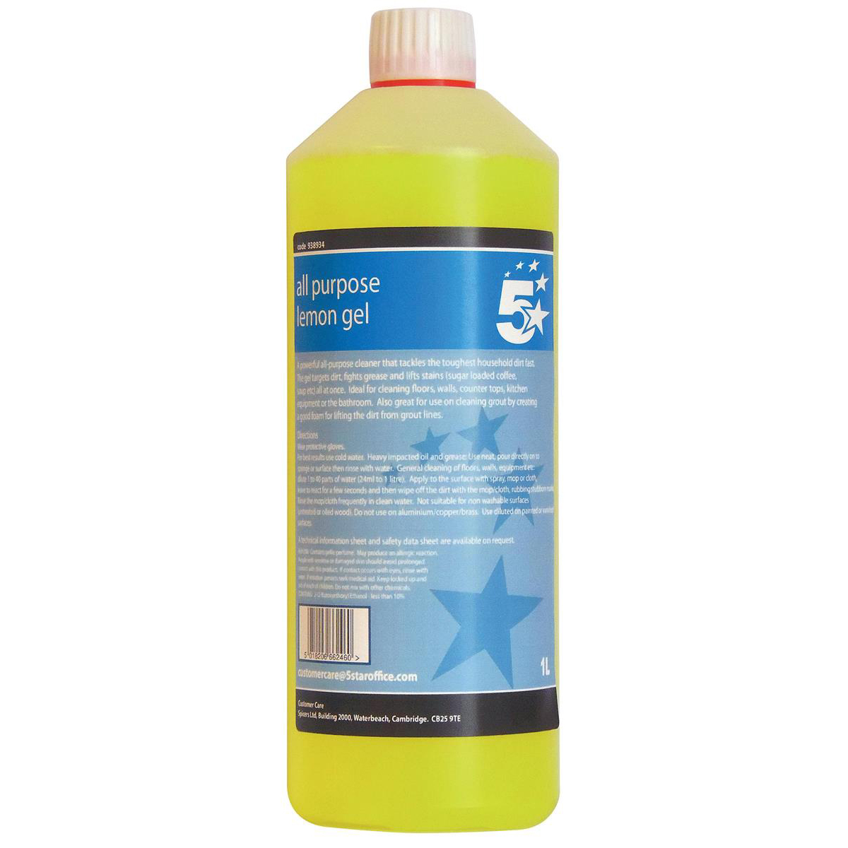 Image for 5 Star Facilities All Purpose Lemon Cleaning Gel 1 Litre