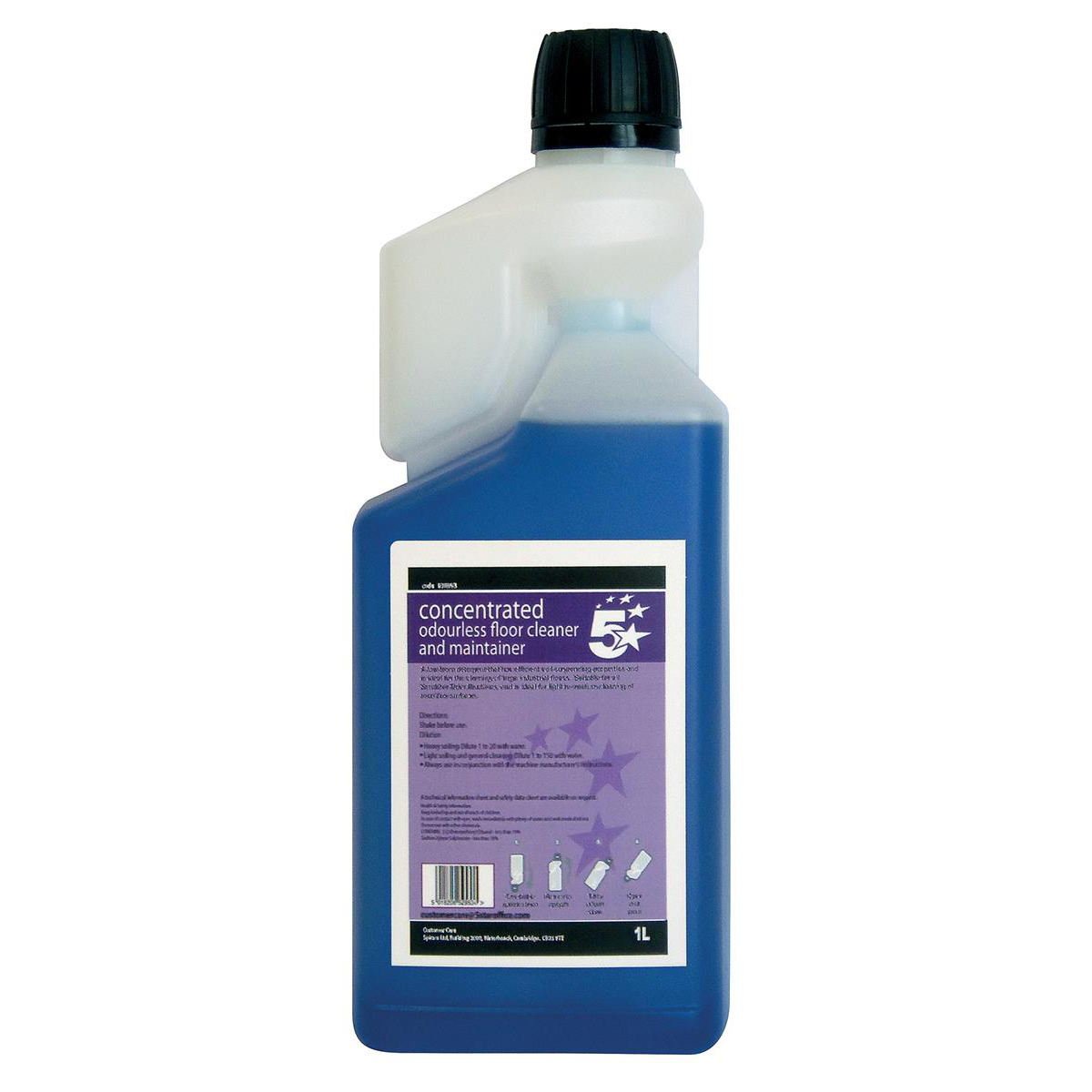 5 Star Facilities Concentrated Odourless Floor Cleaner and Maintainer 1 Litre