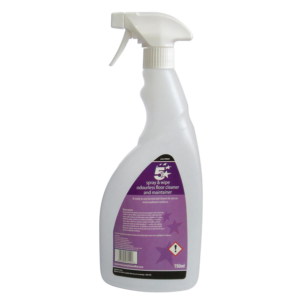 5 Star Facilities Pre-labelled Empty Bottle for Concentrated Odourless Floor Cleaner Capacity = 750ml