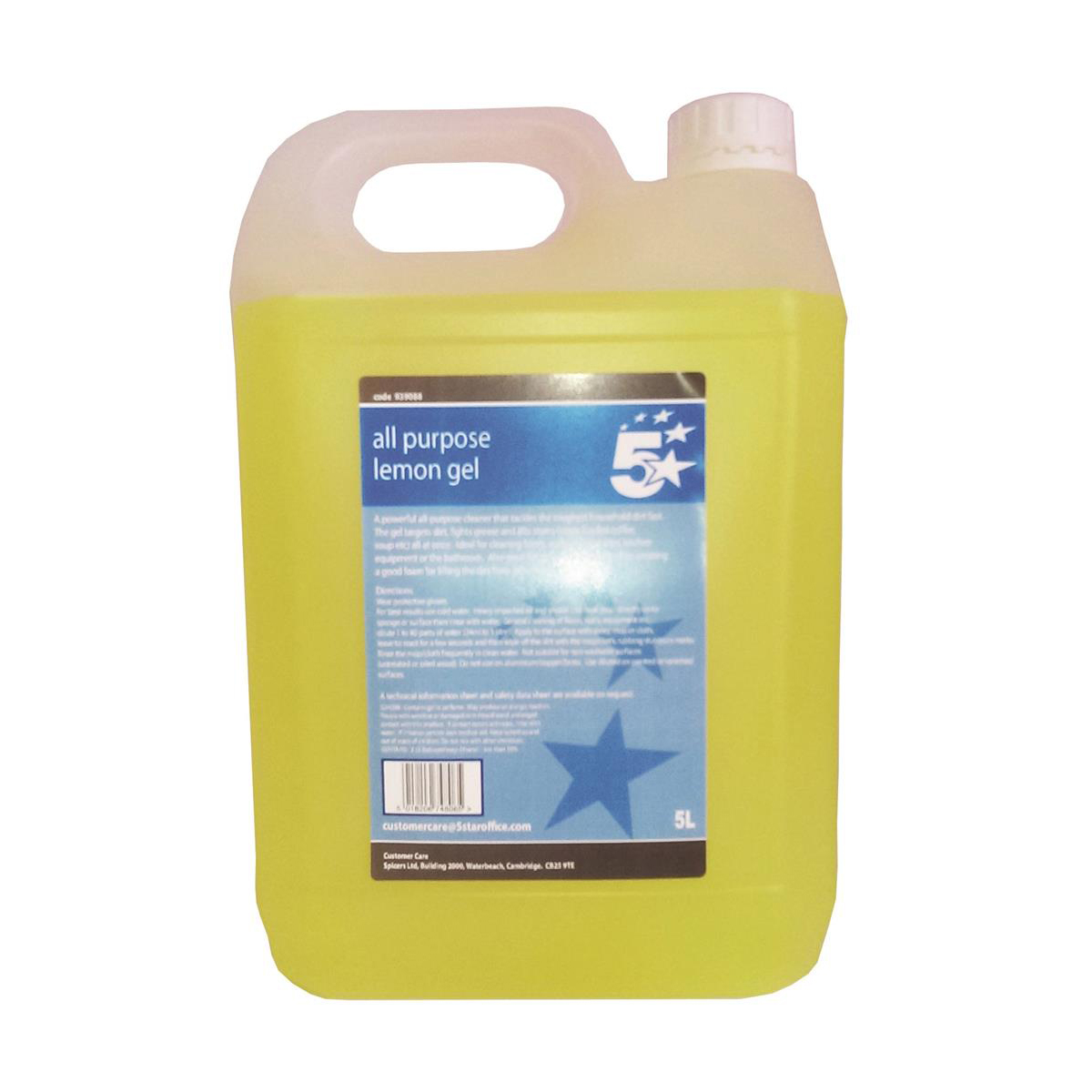 Cleaning Chemicals 5 Star Facilities All Purpose Lemon Cleaning Gel 5 Litre