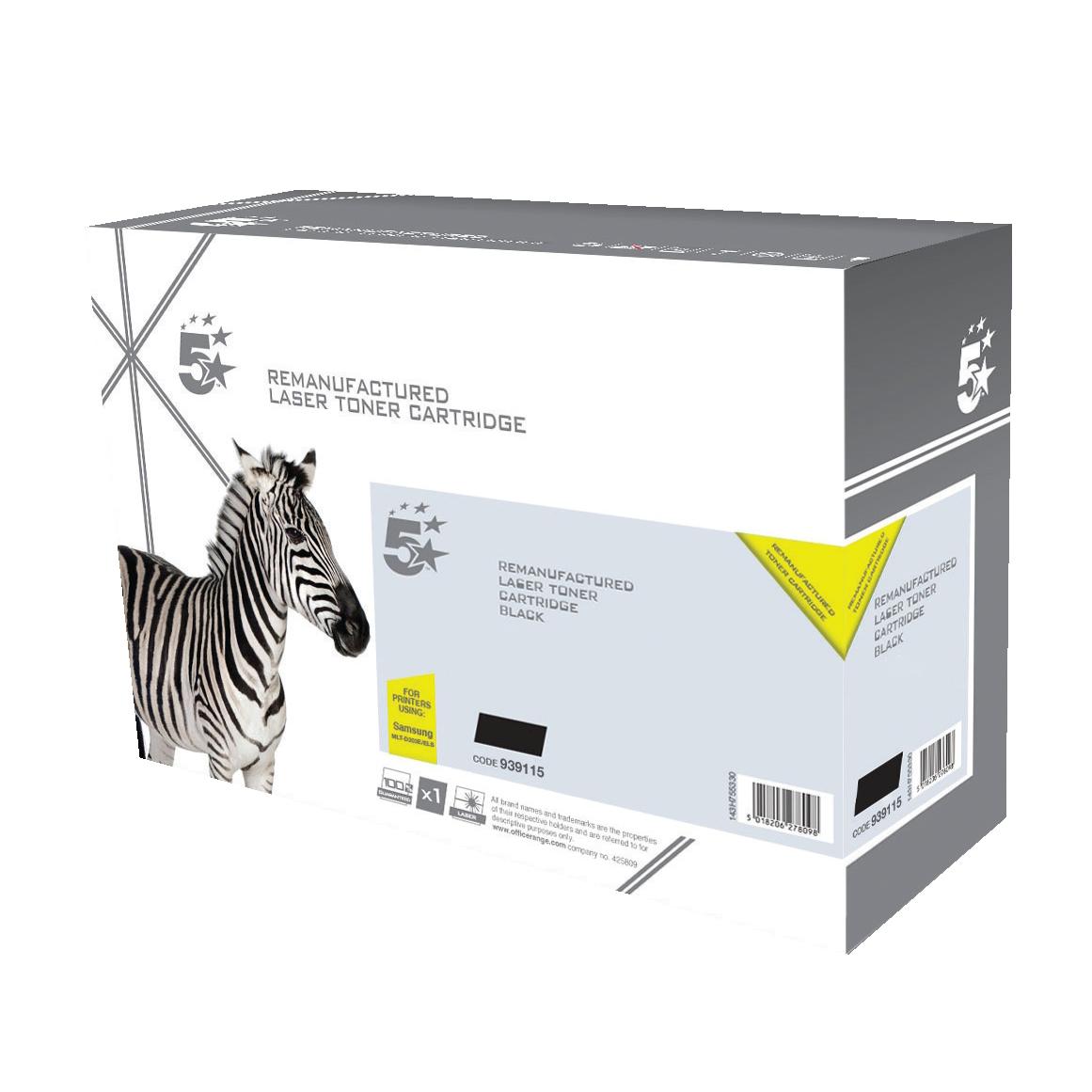 5 Star Office Reman Laser Toner Cart Page Life 10,000pp Black [Samsung MLT-D203L SU885A Alternative]