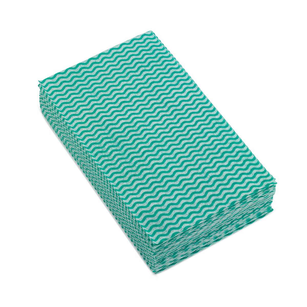 5 Star Facilities Cleaning Cloths Anti-microbial 40gsm W500xL300mm Wavy Line Green Pack 50