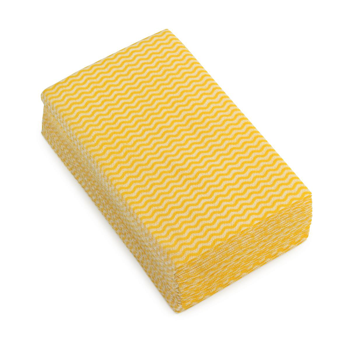 5 Star Facilities Wave Line Mid-weight Cleaning Cloth 40gsm W500xL300mm Yellow [Pack 50]