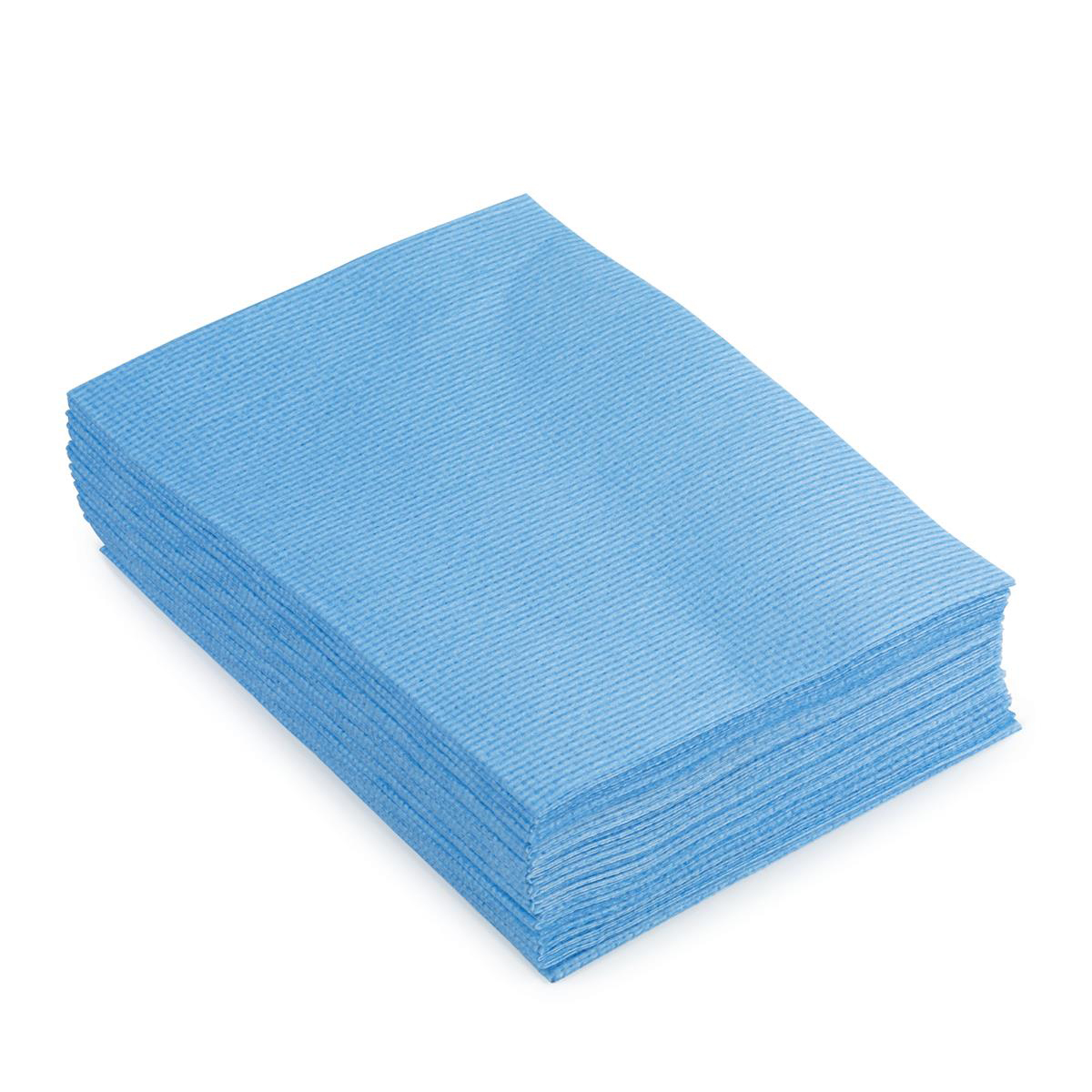 5 Star Facilities Cleaning Cloths Anti-microbial Heavy-duty 76gsm W500xL300mm Blue [Pack 25]