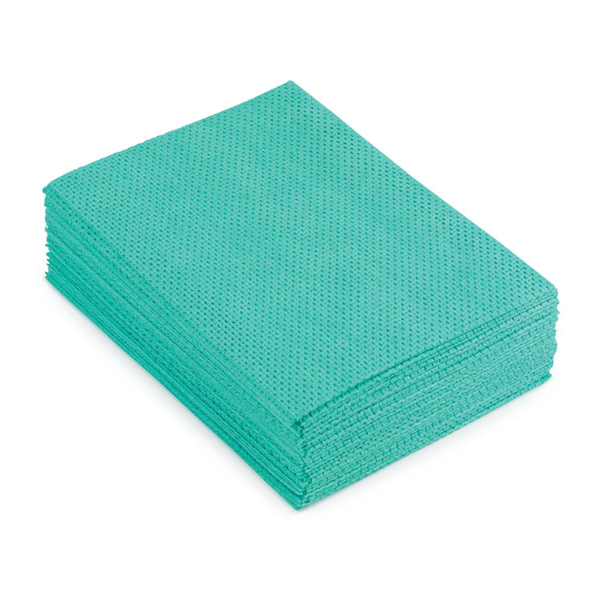 5 Star Facilities Cleaning Cloths Anti-microbial Heavy-duty 76gsm W500xL300mm Green Pack 25