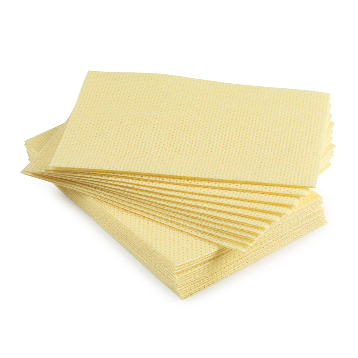 5 Star Facilities Cleaning Cloths Anti-microbial Heavy-duty 76gsm W500xL300mm Yellow [Pack 25]