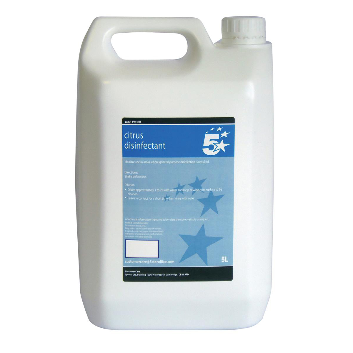 Cleaning Chemicals 5 Star Facilities Concentrated Citrus Disinfectant 5 Litres