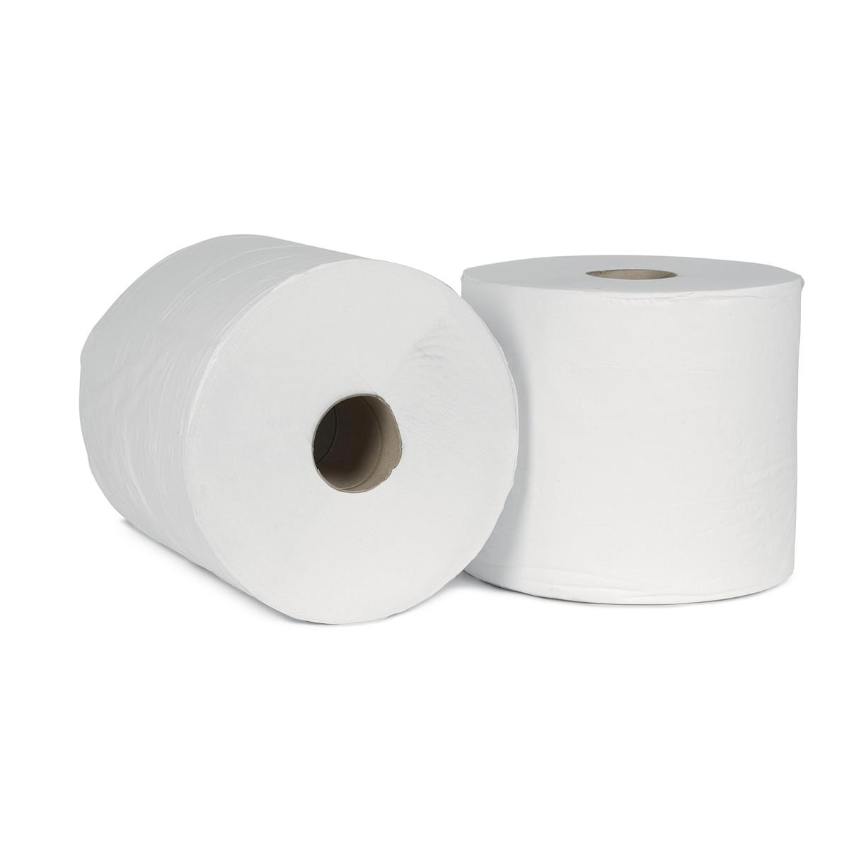 5 Star Facilities Giant Wiper Roll 2-ply Perforated Sheet 370x370mm 40gsm 1000 Sheets White Pack 2