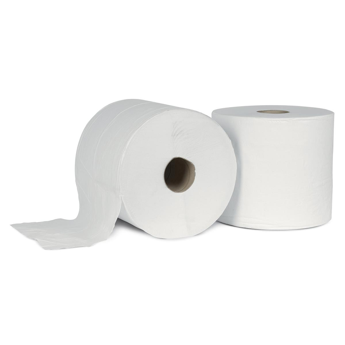 5 Star Facilities Giant Wiper Roll 2-ply Perforated Sheet 370x370mm 40gsm 1000 Sheets White [Pack 2]