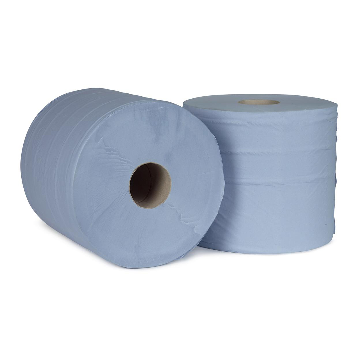 5 Star Facilities Giant Wiper Roll 2-ply Perforated Sheet 370x370mm 40gsm 1000 Sheets Blue [Pack 2]