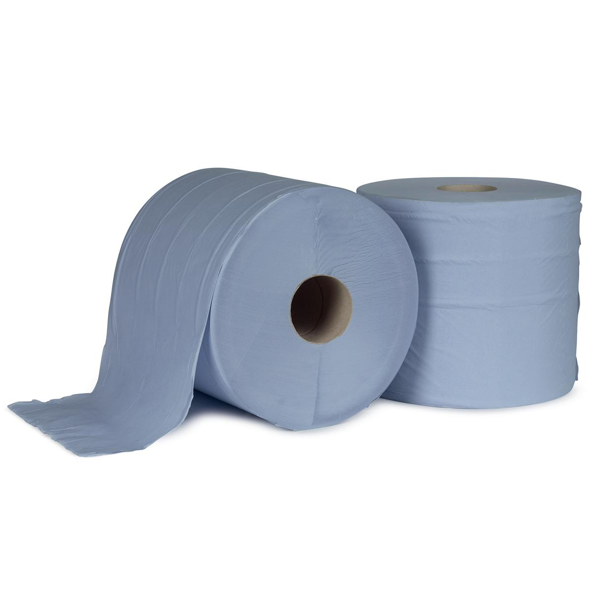 5 Star Facilities Giant Wiper Roll 2-ply Perforated Sheet 370x370mm 40gsm 1000 Sheets Blue Pack 2