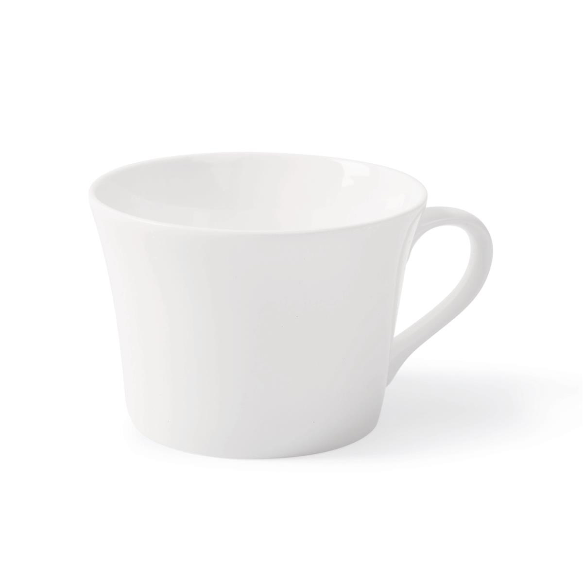 5 Star Facilities Fine Bone China Teacup White Pack 6