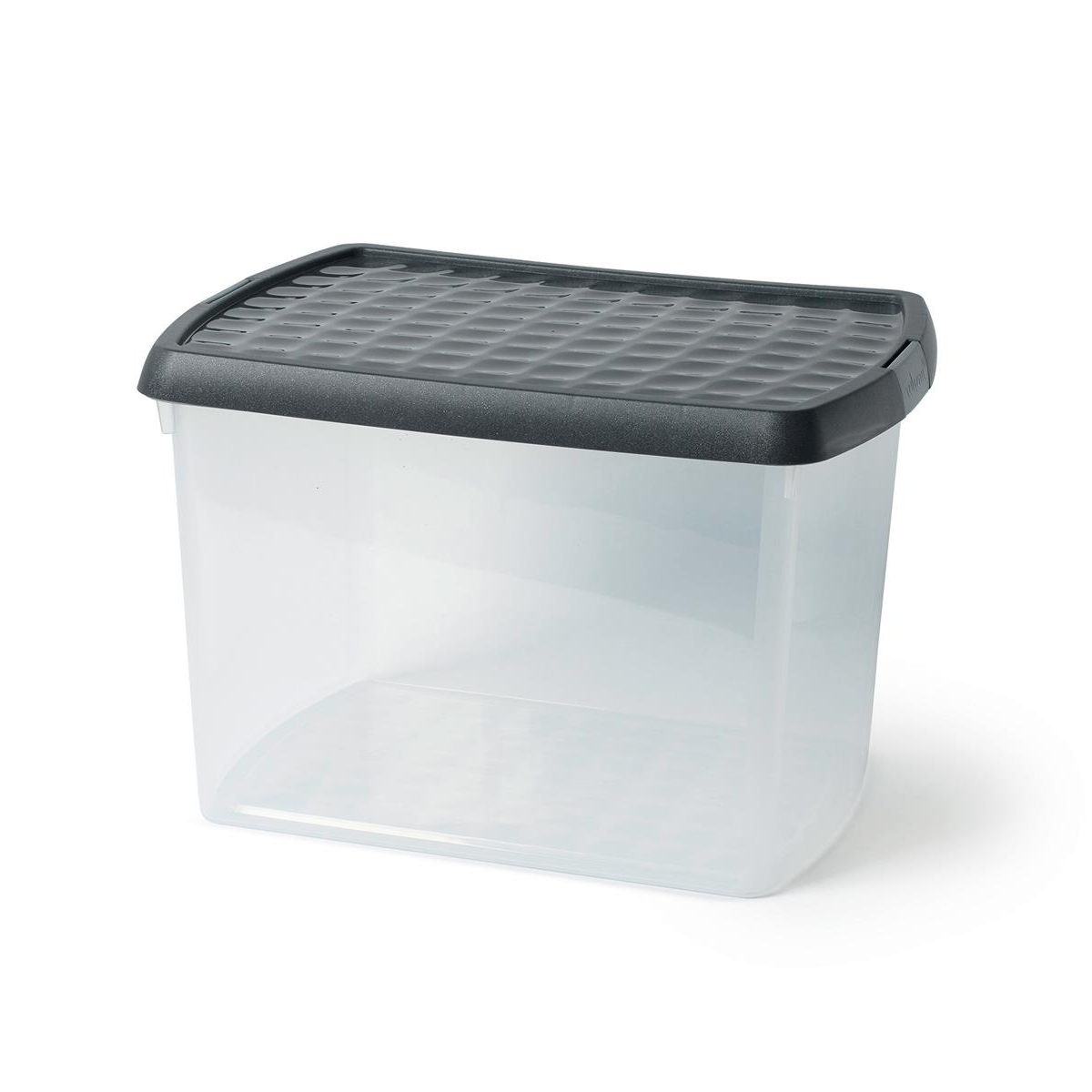 Image for 5 Star Elite Storage Clip Box Plastic Stackable with Lid 21.5 Litre Clear