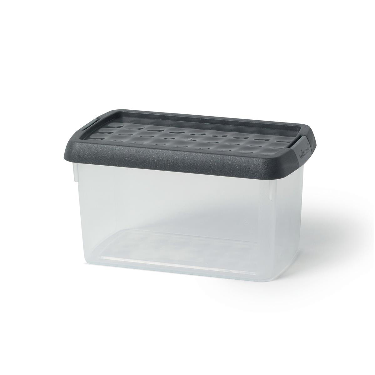 5 Star Elite Storage Clip Box Plastic Stackable with Lid 1.5 Litre Clear