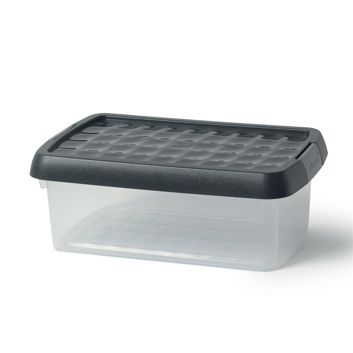 Image for 5 Star Elite Storage Clip Box Plastic Stackable with Lid 3.8 Litre Clear