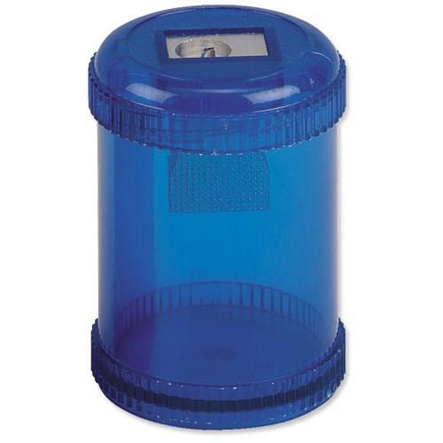 Sharpeners 5 Star Office Pencil Sharpener Plastic Canister One Hole Max. Diameter 8mm Blue Pack 10
