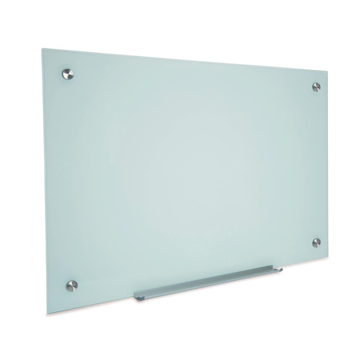 5 Star Office Glass Board Magnetic with Wall Fixings W1000xH650mm White