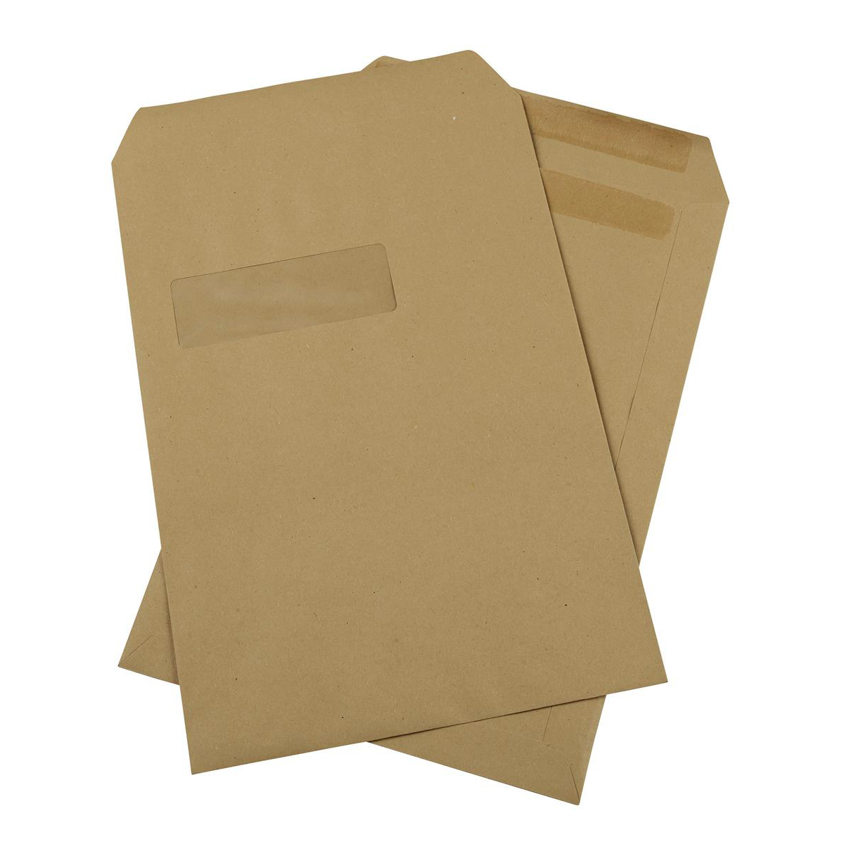 5 Star Office Envelopes PEFC Pocket Self Seal Window 90gsm C4 324x229mm Manilla Pack 250