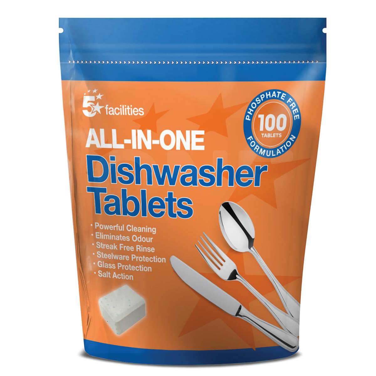 5 Star Facilities All-in-one Dishwasher Tablets Pack 100