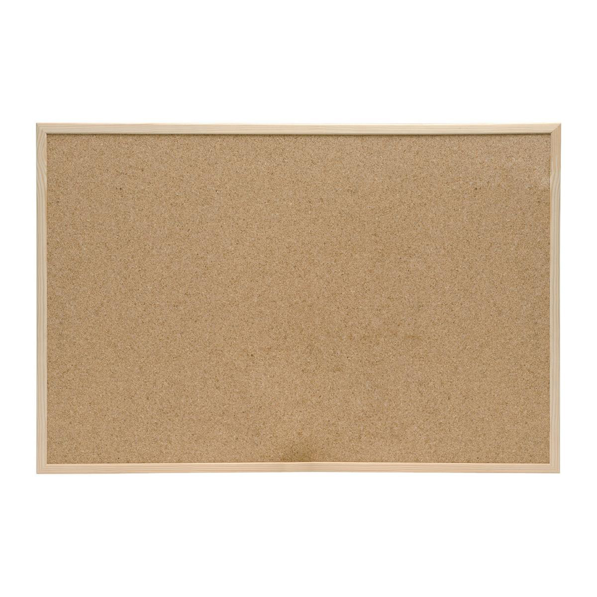5 Star Office Noticeboard Cork with Pine Frame W1200xH900mm