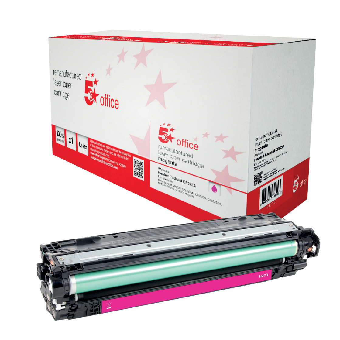 5 Star Office Remanufactured Laser Toner Cartridge Page Life 15000pp Magenta [HP 650A CE273A Alternative]
