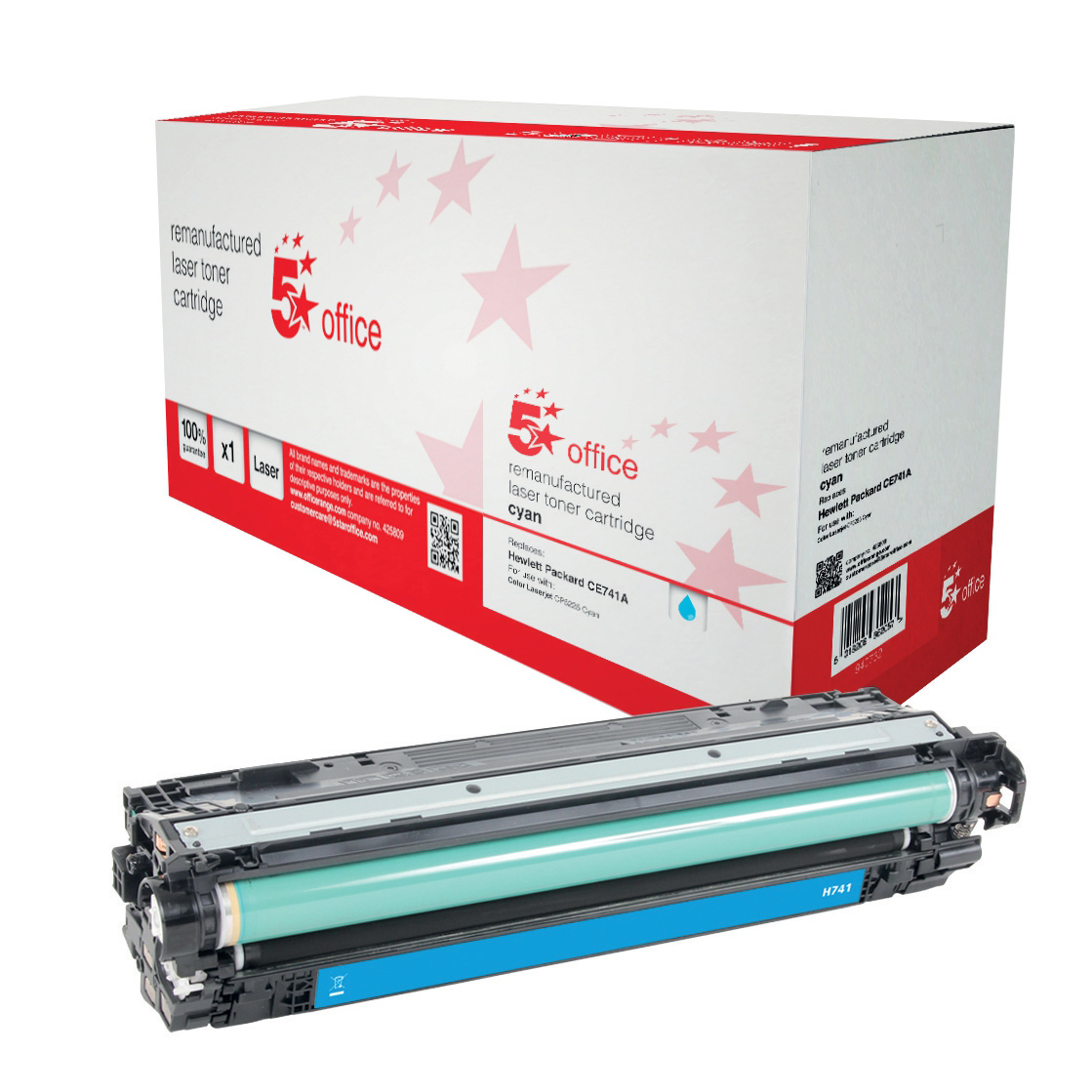 5 Star Office Remanufactured Laser Toner Cartridge Page Life 7300pp Cyan [HP 307A CE741A Alternative]