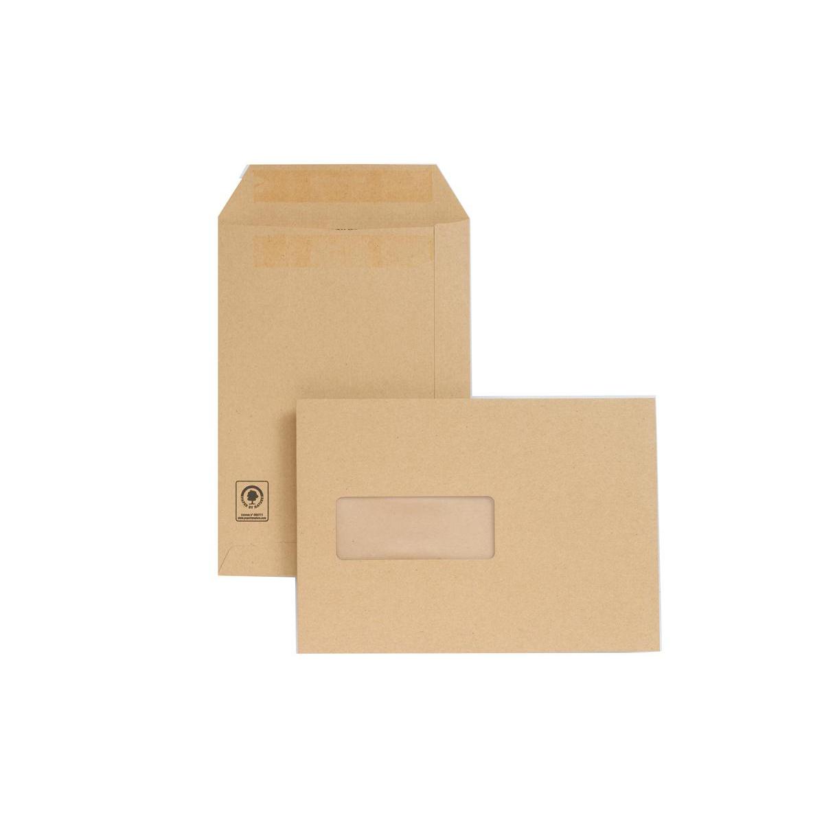New Guardian Envelopes FSC Pocket Self Seal HvyWgt Wdw 130gsm C5 229x162mm Manilla Ref A23013 Pack 250