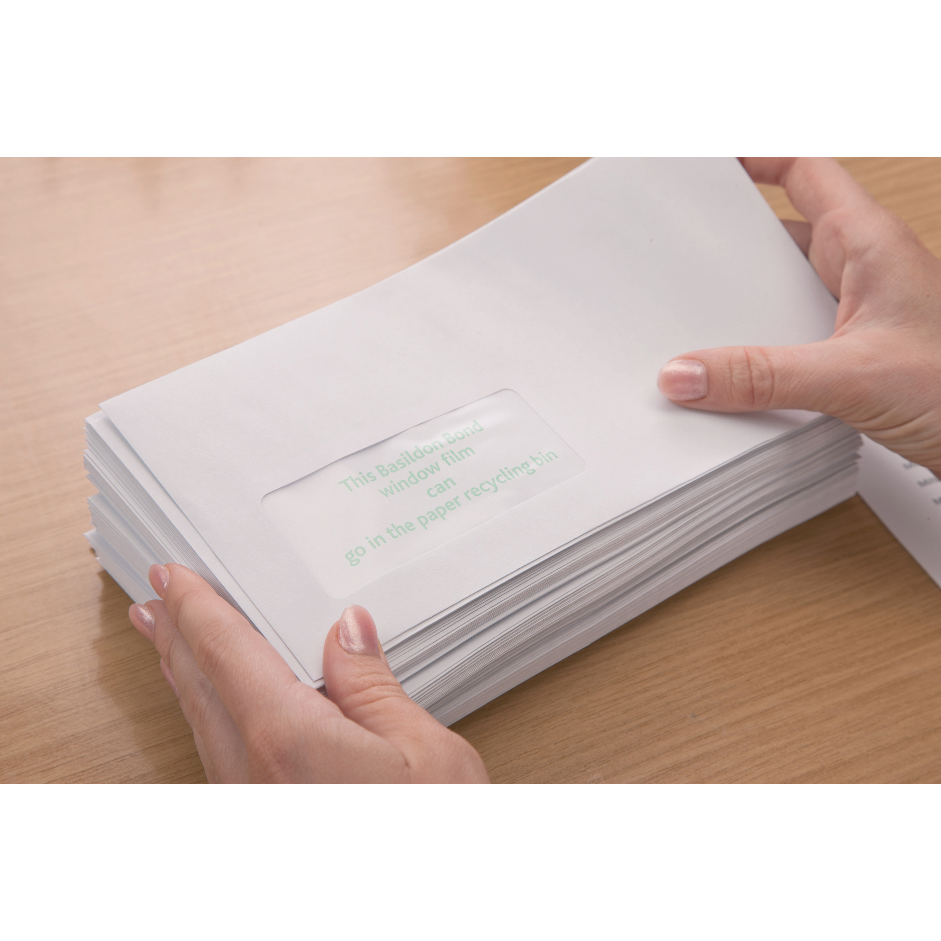 Basildon Bond Envelopes Recycled Wallet P&S Window 120gsm DL White Ref A80117 Pack 500 PRIZE DRAW