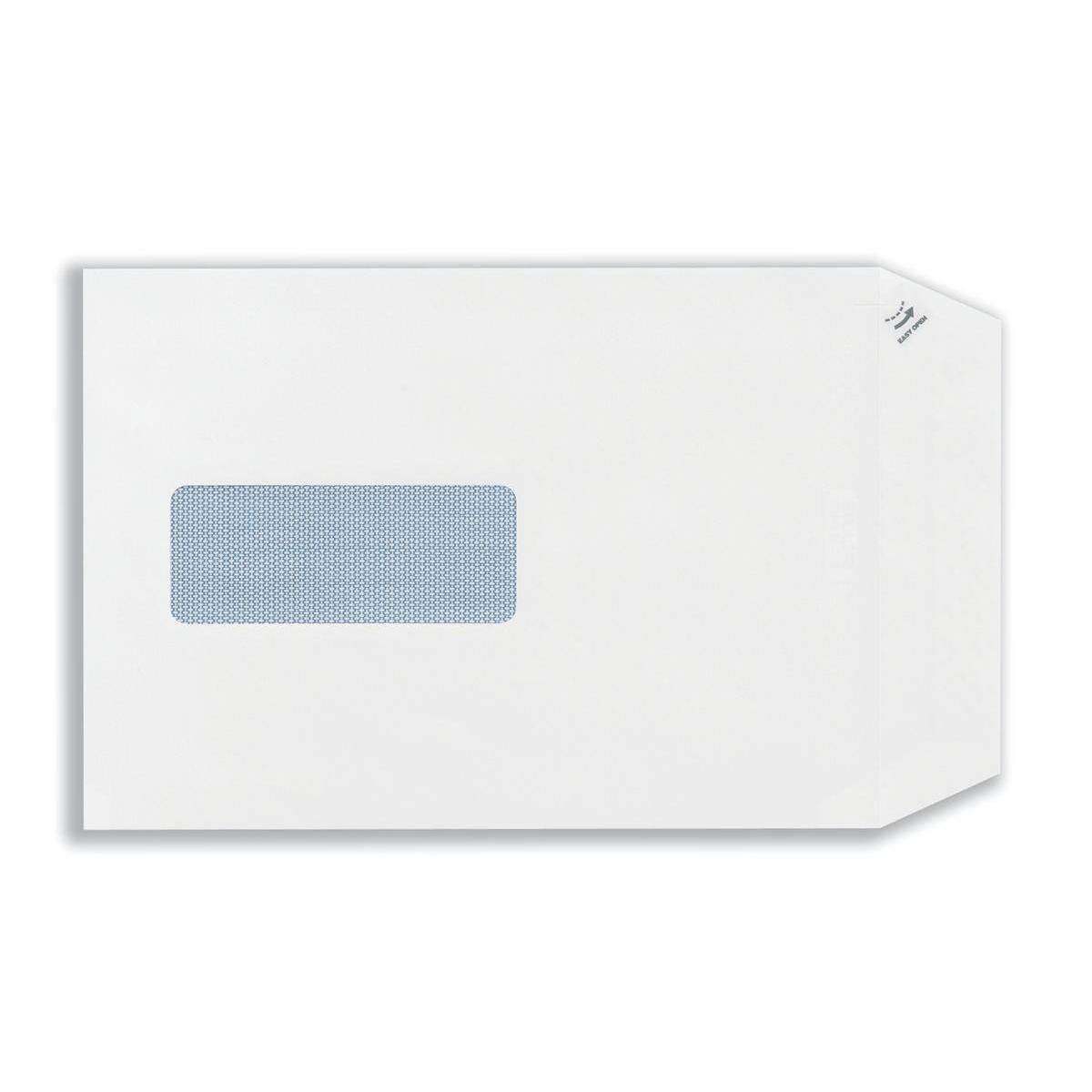 Plus Fabric Envelopes PEFC Pocket Self Seal Window 120gsm C5 229x162mm White Ref C26870 Pack 500