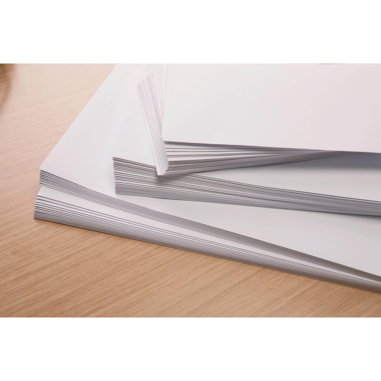 Plus Fabric Envelopes PEFC Wallet Self Seal Window 120gsm C6 114x162mm White Ref F22670 [Pack 500]