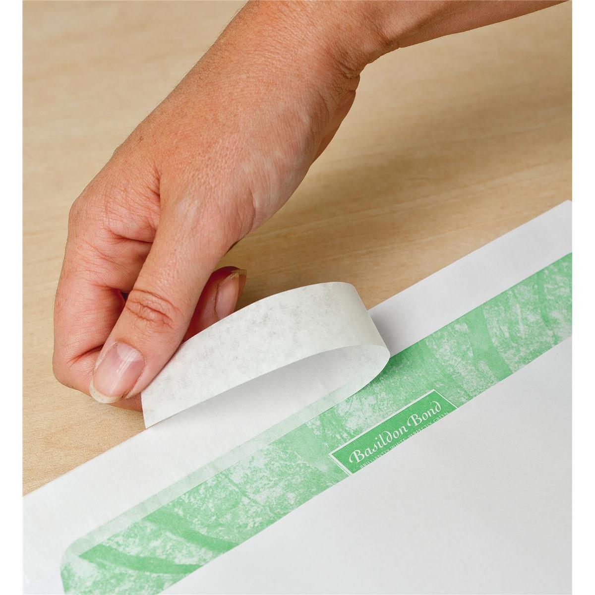 Basildon Bond Envelopes FSC Recycled Pocket P&S Window 120gsm C5 White Ref J80119 Pack 500