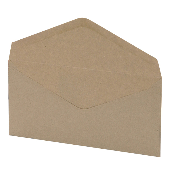 DL 5 Star Office Envelopes FSC Wallet Recycled Lightweight Gummed Wdw 75gsm DL 220x110mm Manilla Pack 1000