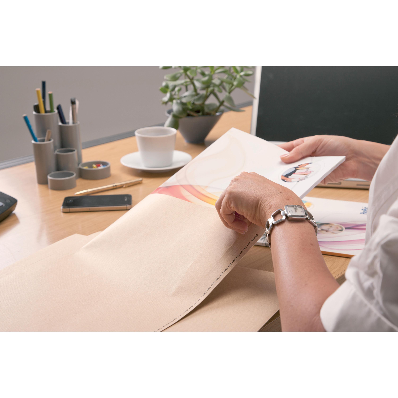 New Guardian Envelopes Pocket Self Seal Window 130gsm C4 324x229mm Manilla Ref M27503 Pack 250