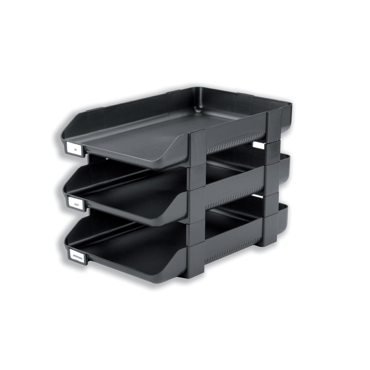 Rexel Agenda Classic 55 Letter Tray Stackable Internal W382xH246x55mm Charcoal Ref 25206